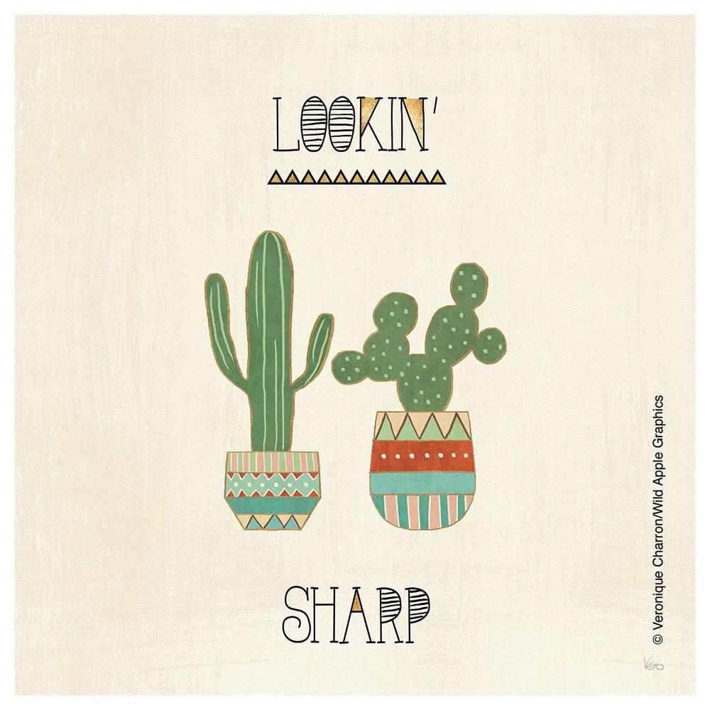 Image of 4pk Ceramic Lookin' Sharp Cactus Print Coasters - Thirstystone