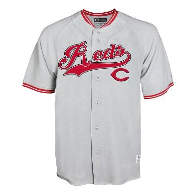 MLB Cincinnati Reds Gray Retro Team Jersey
