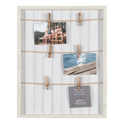 Multiple Image 16X20 Whitewash Pallet Collage Frame Clip - Gallery Solutions
