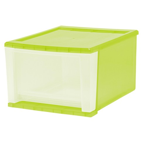 IRIS 17 Qt Stacking Drawer, Pistachio - 4 Pack - image 1 of 3