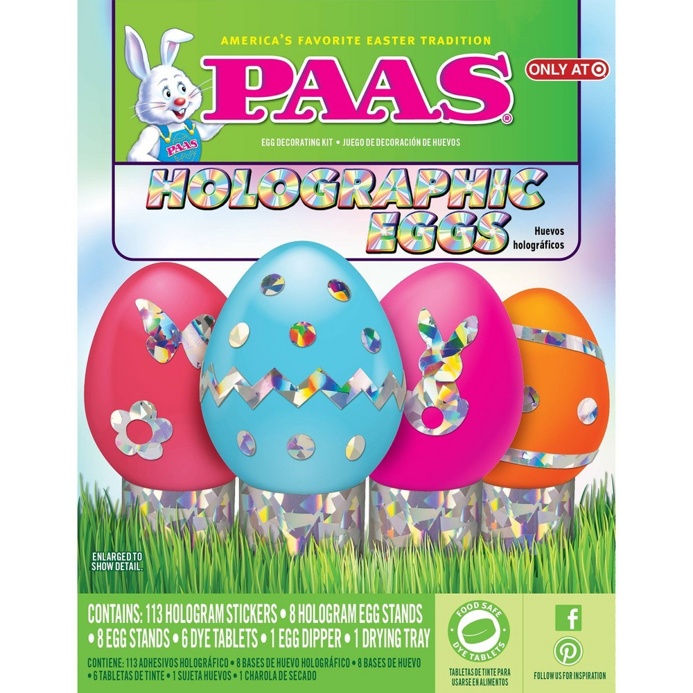 Paas Easter Holographic Egg Decorating Kit, Multi-Colored