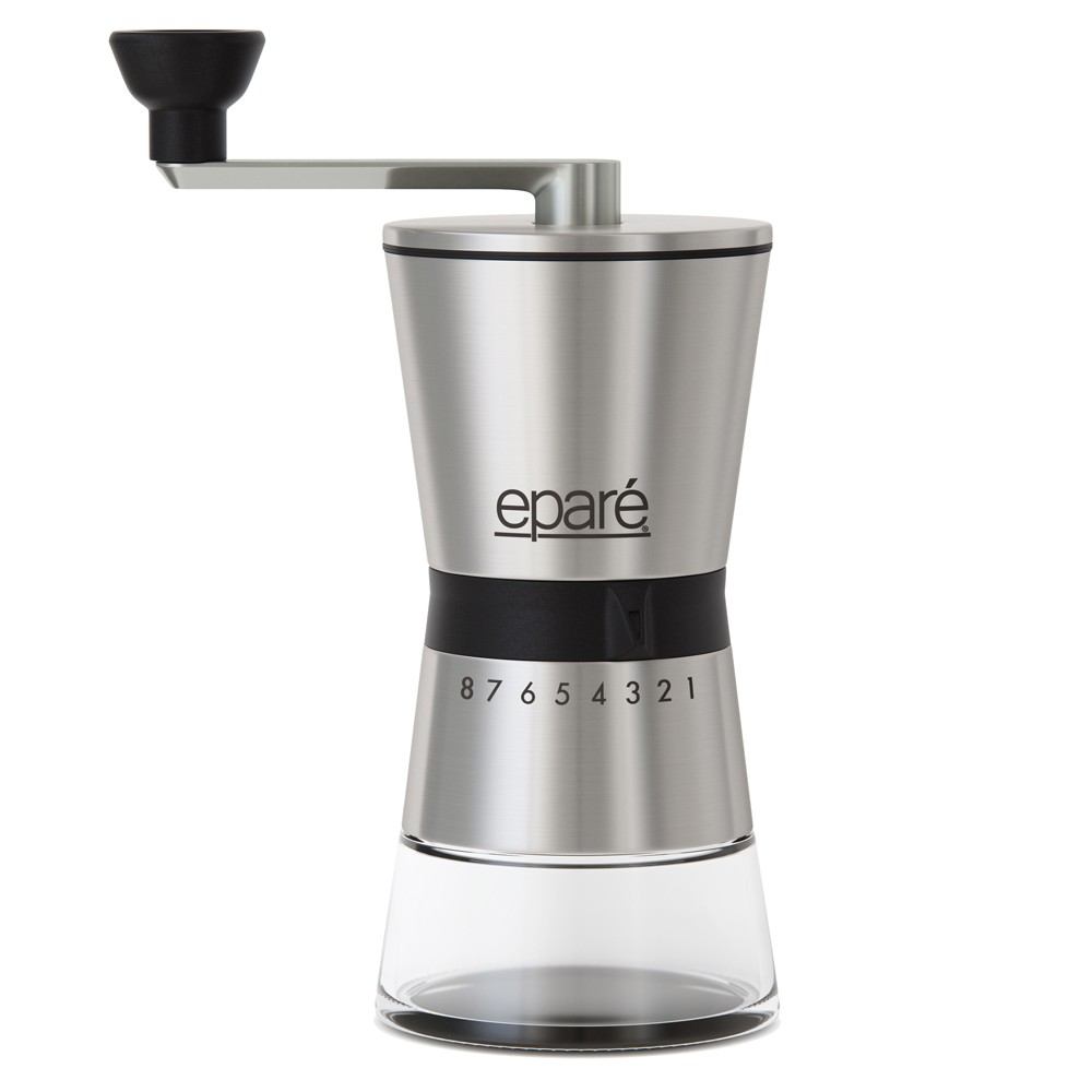Image of Epare Manual Coffee Grinder, Black Silver