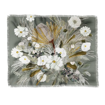 Iveta Abolina Aspen Sage Woven Throw Blanket Green - Deny Designs