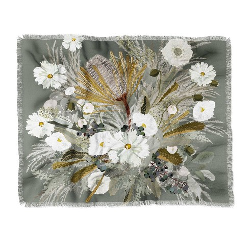 Iveta Abolina Aspen Sage Woven Throw Blanket Green - Deny Designs - image 1 of 2