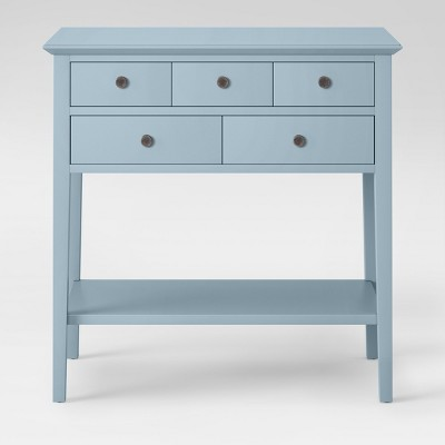 5 Drawer Console Table Acoustic Aqua - Threshold™
