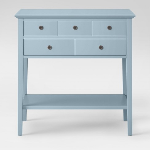 5 Drawer Console Table Acoustic Aqua Threshold Target