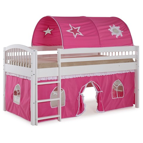 Twin Addison Junior Loft Bed with Tent - Alaterre Furniture - image 1 of 3