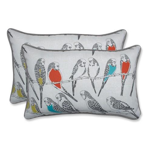 Pillow Perfect Retweet Mango Outdoor Throw Set Off White