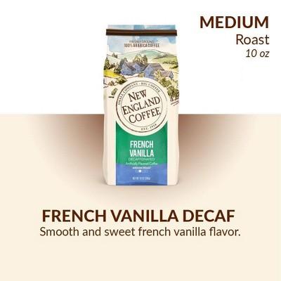 New England French Vanilla Decaf Medium Roast Ground Coffee - 10oz