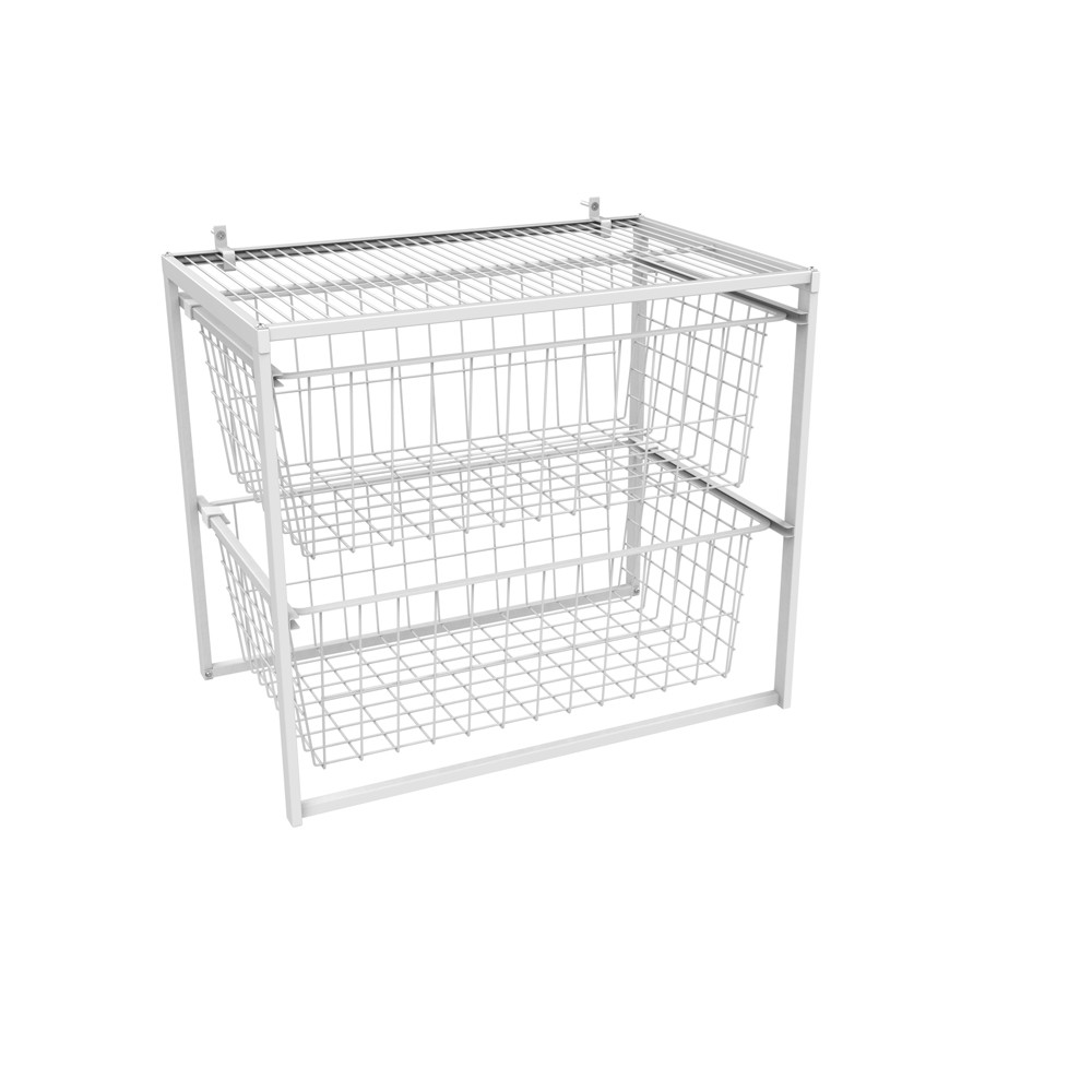 Image of Pantry Wire Basket White - ClosetMaid