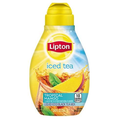 Lipton Tea & Honey Tropical Mango Liquid Iced Tea Mix 2.43 oz - image 1 of 1