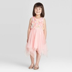 Toddler Girls' Rainbow Rosette Fairy Hem Dress - Cat & Jack™ Pink