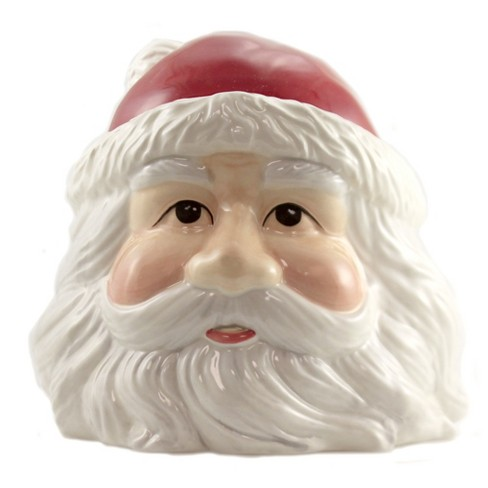 """Tabletop 8.0"""" Santa Head Cookie Jar Christmas Treats Claus Pacific Trading  -  Food Storage Containers - image 1 of 3"""