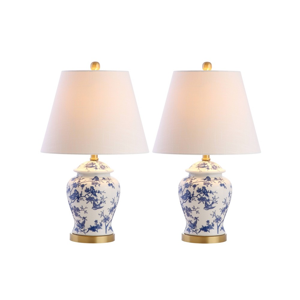 """22"""""""" (Set of 2) Penelope Chinoiserie Table Lamps Blue/White - JONATHAN Y -  80349633"""