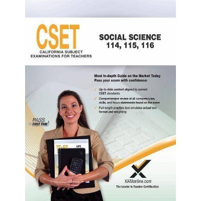 Cset Social Science (114, 115, 116) - by Sharon A Wynne (Paperback)
