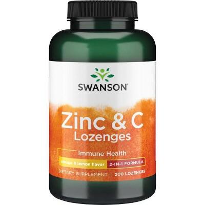 Swanson Zinc & C Lozenges - Orange & Lemon Flavor 200 Lozenges