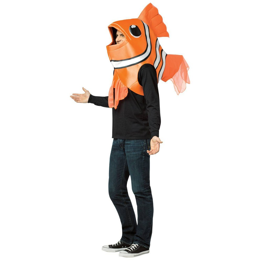 Image of Halloween Clown Fish Headpiece Adult Costume, Adult Unisex, Size: One Size, MultiColored