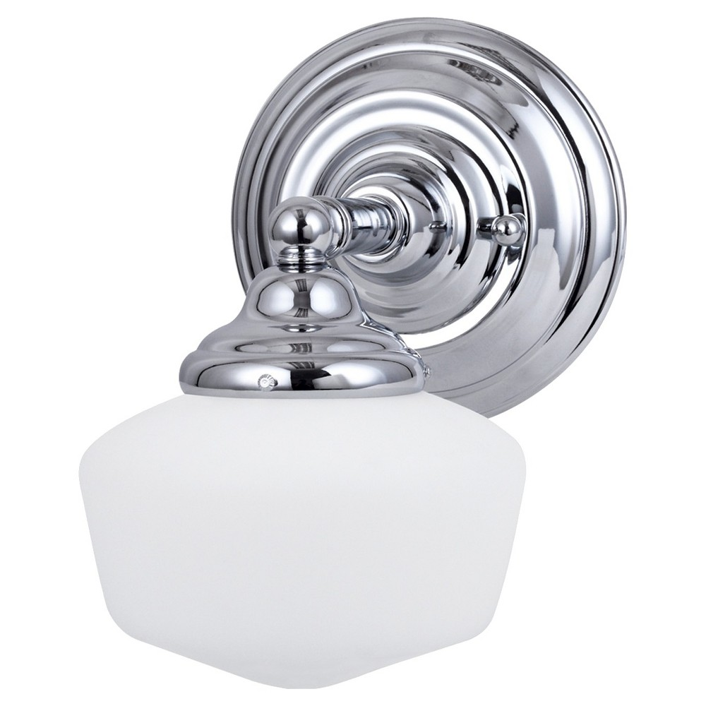 Image of Sea Gull Lighting Academy One Light Bath Sconce - Chrome