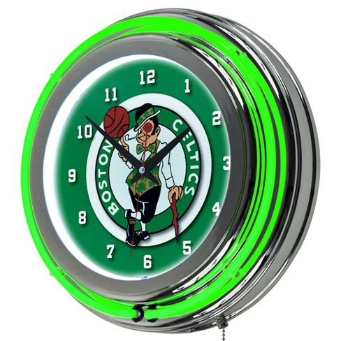 sale retailer ee4c1 bbb6b Boston Celtics Team Logo Wall Clock