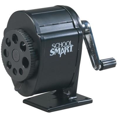 School Smart Multi-Hole Metal Pencil Sharpener, Black