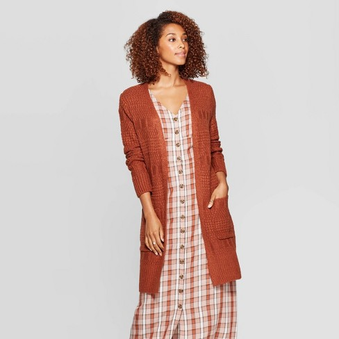Women's Long Sleeve Open Neck Cardigan - Universal Thread™ - image 1 of 3