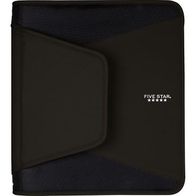 Five Star 1-1/2 Tech Zipper Binder Black 72204