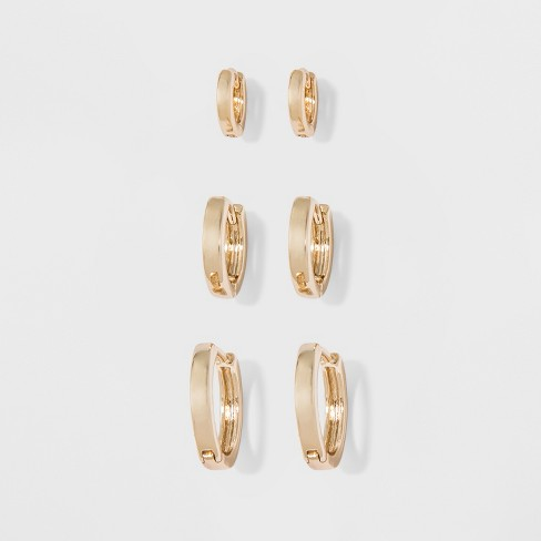 61e9ab21e Small Hoop Earrings - A New Day™ : Target