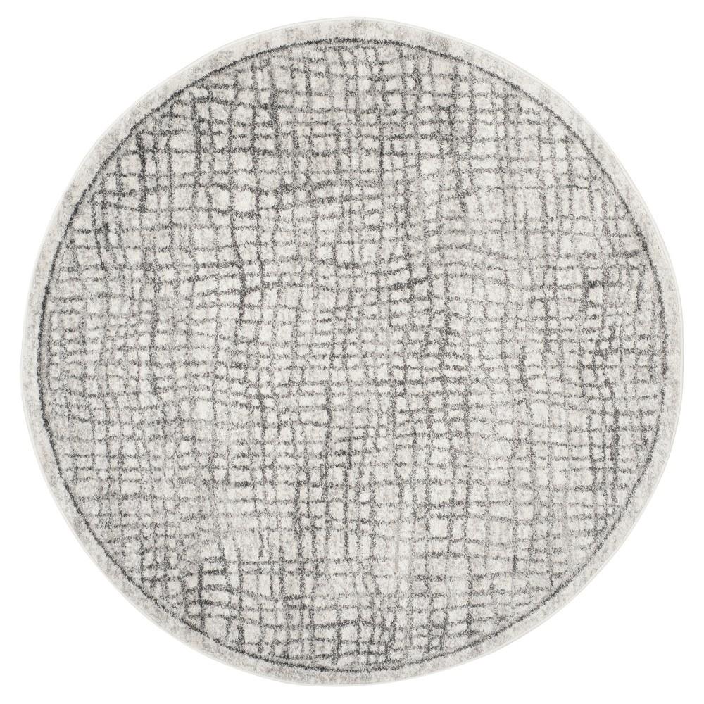 Adirondack Rug - Silver/Ivory - (8'x8' Round) - Safavieh