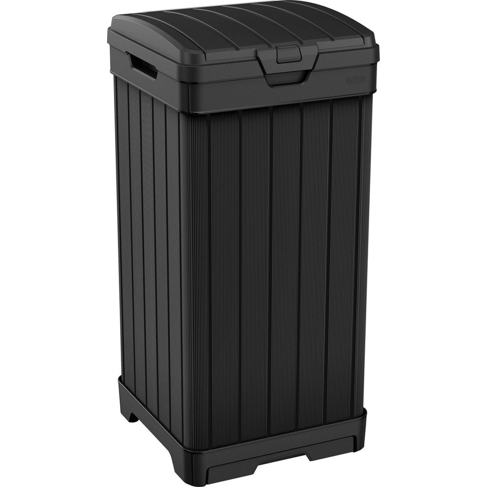 Image of 39gal Baltimore Outdoor Resin Trashcan Black - Keter