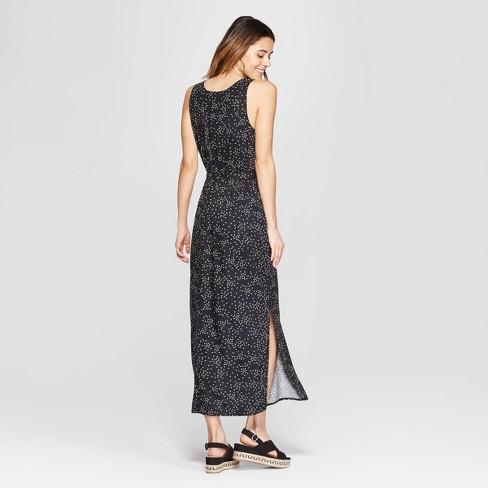 6a42ba60dc60 Women's Floral Print Sleeveless V-Neck Maxi Dress - A New Day™ Black/White