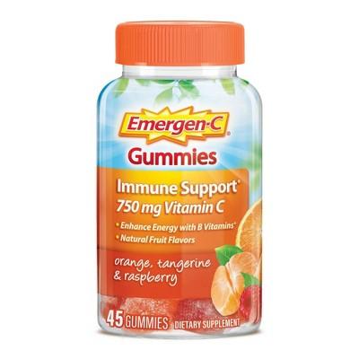 Emergen-C Immune Support Gummies - Orange, Tangerine & Raspberry - 45ct
