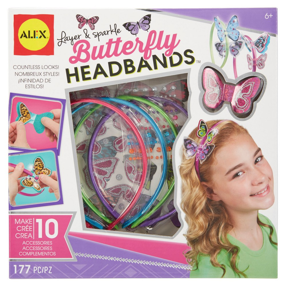 Alex Toys Do-it-Yourself Wear Layer and Sparkle Butterfly Headbands