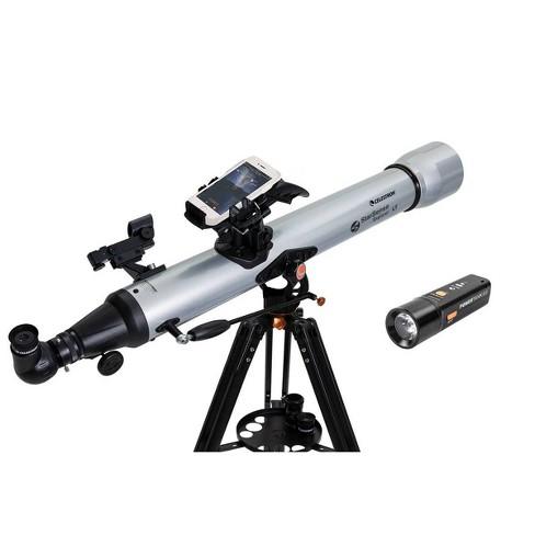 Celestron Starsense Explorer DX 102AZ App Enabled Refractor Telescope with Bonus Power Tank Glow 5000 Portable Power Bank - image 1 of 4