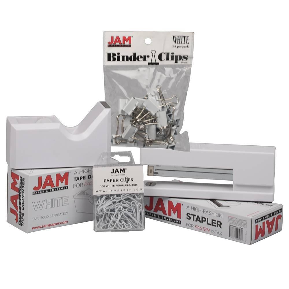 Image of JAM Paper 4pk Office Starter Kit - White