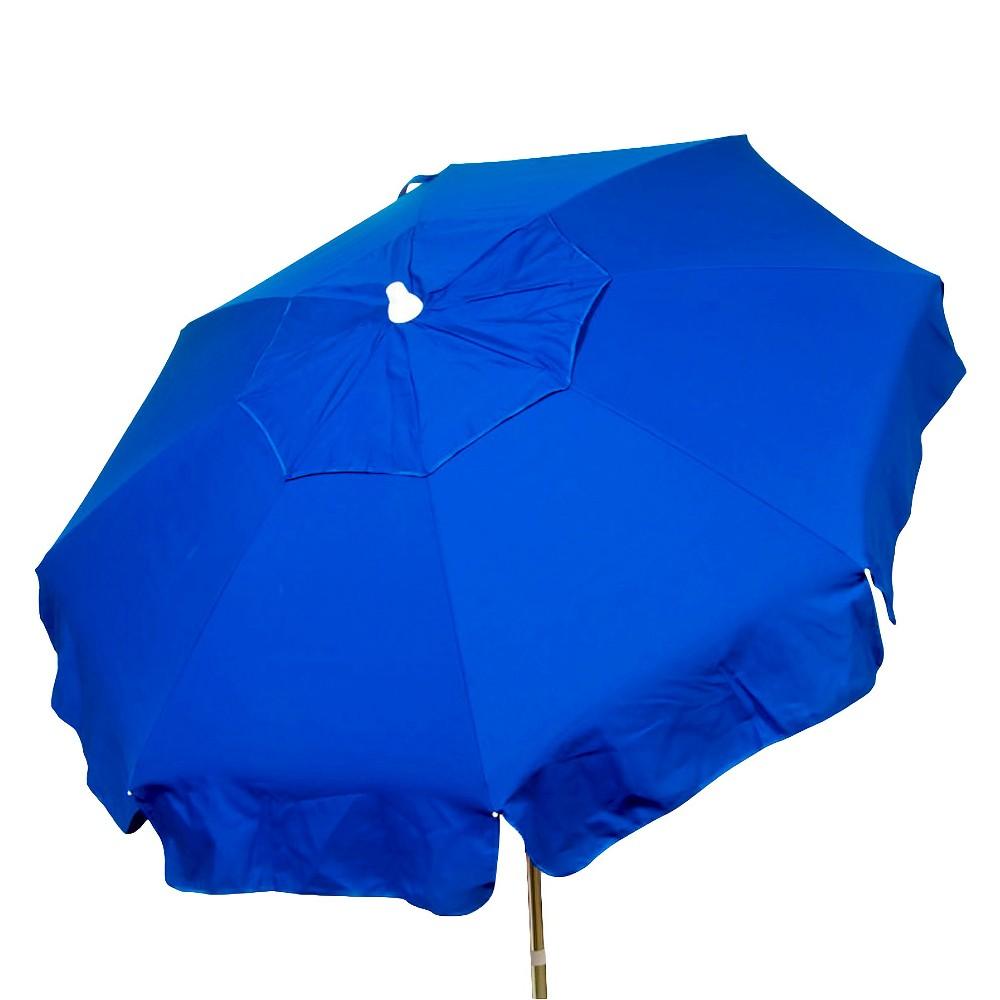 Parasol 6' Italian Aluminum Collar Tilt Beach Umbrella - Blue