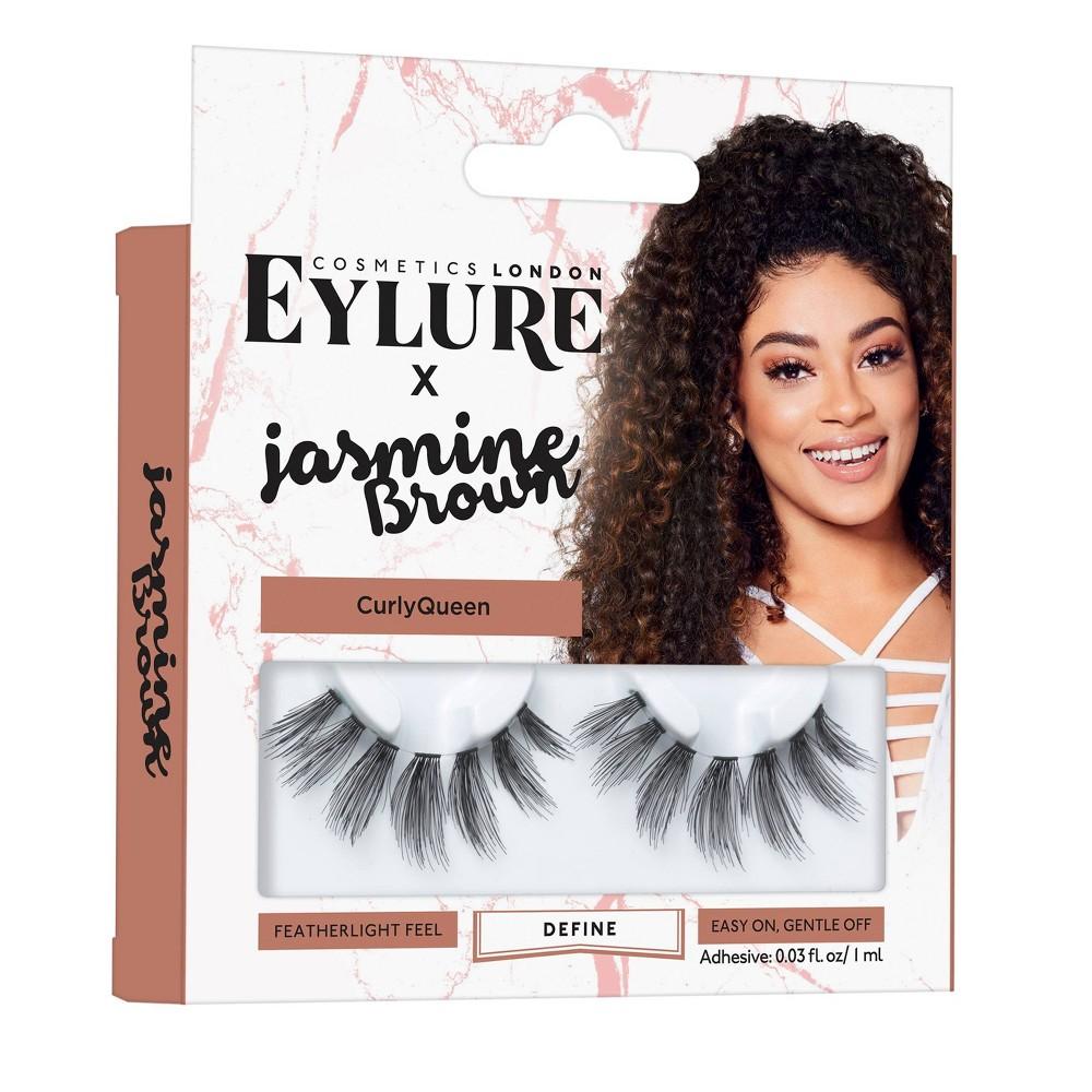 Image of Eylure False Eyelashes Jasmine Brown Curly Queen - 1pr