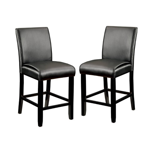 Set of 2 Bailey II Leatherette Parson Counter Height Chair Black - ioHOMES - image 1 of 3