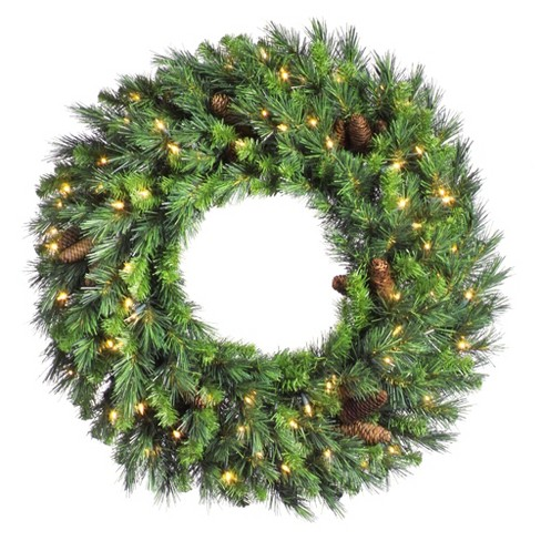 "Vickerman 24"" Cheyenne Pine Artificial Christmas Wreath with 50 Warm White LED Lights - image 1 of 1"