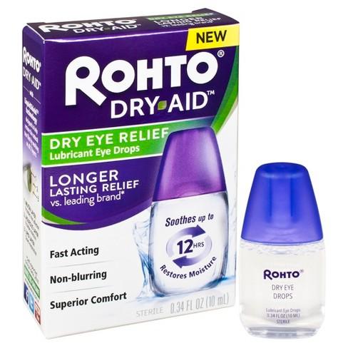 Rohto Dry Aid Dry Eye Relief Eye Drops 34 Fl Oz Target