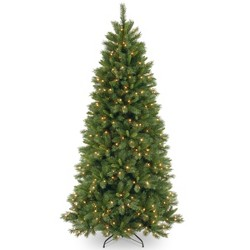 National Tree Company 7.5ft Lehigh Valley Artificial Pine Tree LED Dual Color