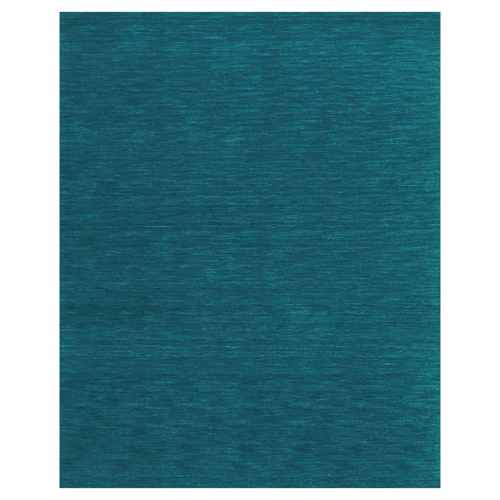 5'X8' Solid Woven Area Rugs Teal (Blue) - Room Envy