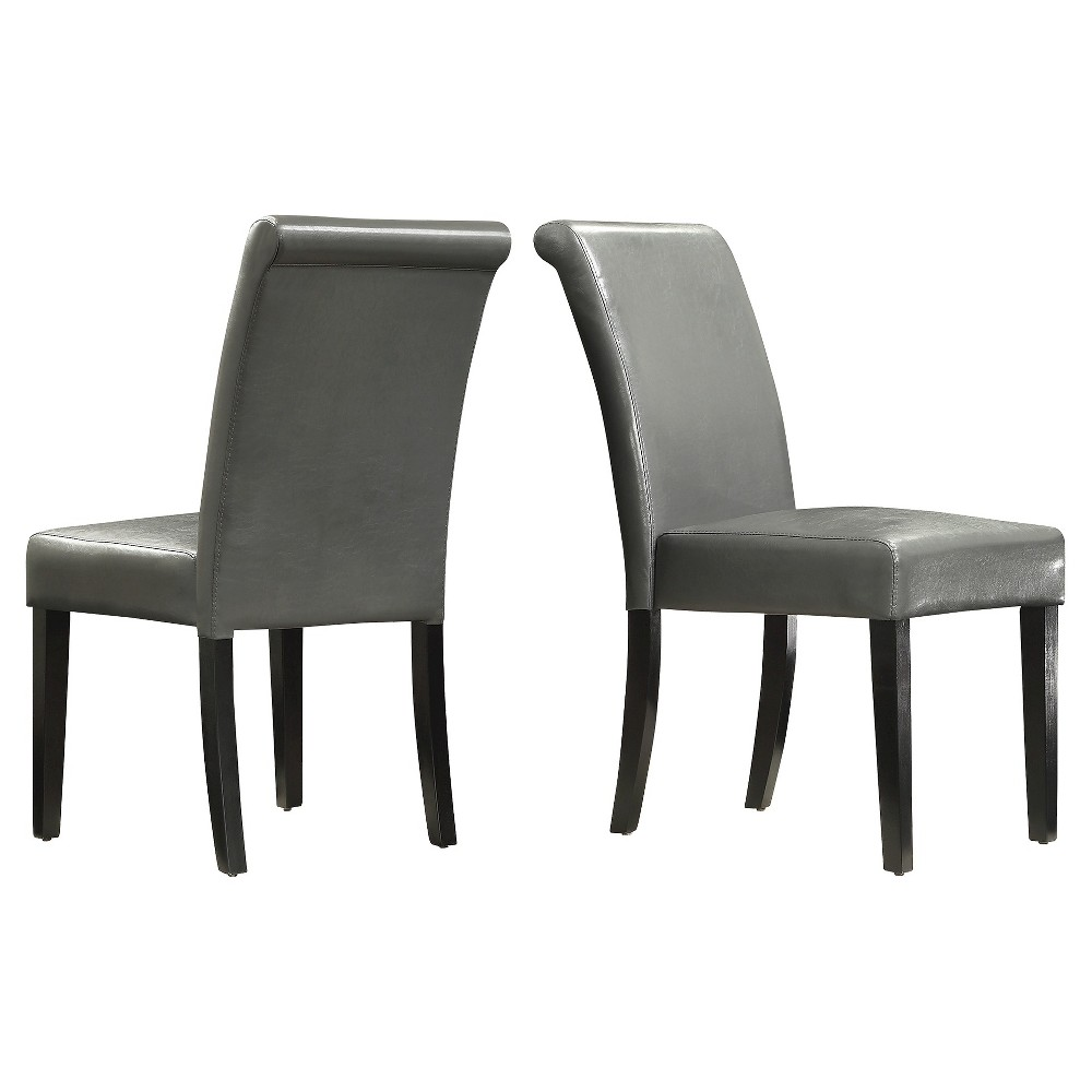 Salido Parson Dining Chair Wood/Gray (Set of 2) - Inspire Q, Grey/Gray