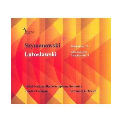 Szymanowski/Lutoslawski: Overture, Op. 12/Cello Concerto/Symphony No. 4 (CD) - image 1 of 1