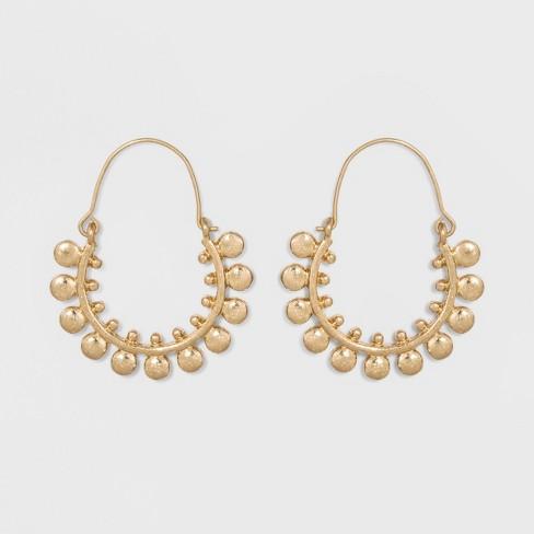 Hoop Earrings - Universal Thread™ Gold - image 1 of 3