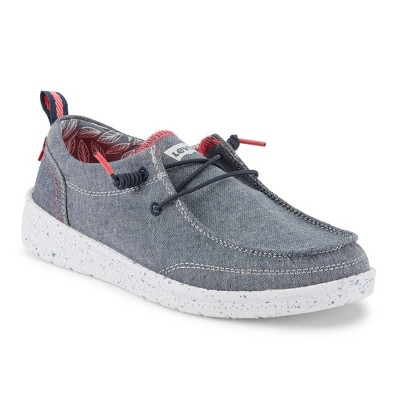 Levi's Kids Newt CHMB Slip-on Unisex Chambray Fashion Sneaker Shoe