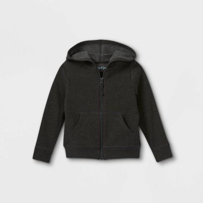 Toddler Girls' Solid Fleece Zip-Up Hoodie Sweatshirt - Cat & Jack™