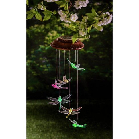 "26"" Acrylic/Metal Solar Mobile Dragonfly - Evergreen - image 1 of 1"