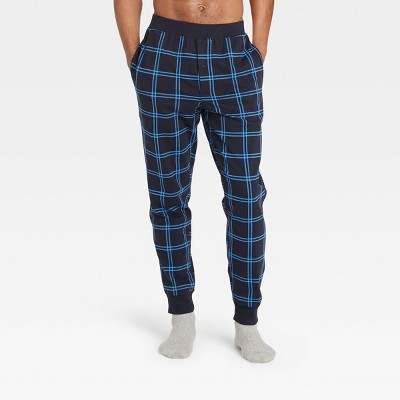Men's Plaid Regular Fit Knit Jogger Pajama Pants - Goodfellow & Co™ Blue