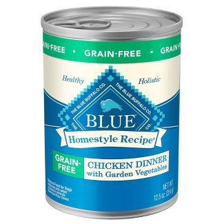 Blue Buffalo - Grain Free - Wet Dog Food - Chicken With Garden Vegetables - 12.5oz