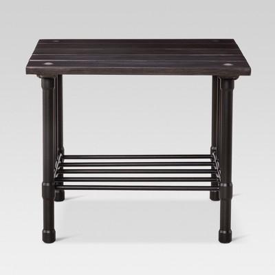 Fernhill Metal Square Patio Side Table - Black - Threshold™